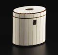 Decorative Arts, British:Other , An English Ivory Tea Caddy. Unknown maker, English. Nineteenthcentury. Ivory, tortoiseshell, silver, wood. Unmarked. 4 in...