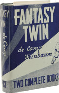Books:First Editions, L. Sprague de Camp and Stanley Weinbaum: Fantasy Twin. (LosAngeles: Fantasy Publishing Co., Inc., 1953), first edition ...