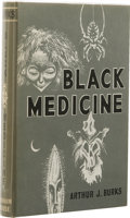 Books:First Editions, Arthur J. Burks: Black Medicine. (Sauk City: Arkham House,1966), first edition, 308 pages, black cloth with gilt letter...