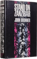 Books:First Editions, John Brunner: Stand on Zanzibar. (New York: Doubleday &Company, Inc., 1968), first edition, 505 pages, bound in black c...