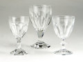 Movie/TV Memorabilia:Memorabilia, Ava Gardner Crystal Goblets. Includes eight crystal goblets withhexagonal bases, two matching crystal dessert wine goblets,...