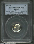 Proof Roosevelt Dimes: , 1981-S Type One PR 69 Deep Cameo PCGS. ...