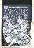 Original Comic Art:Covers, Lee Elias - Original Cover Art for Witches Tales #15 (Harvey, 1952). It edges ever closer, and she can feel its dank breathe...