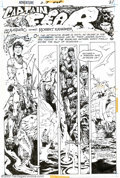 Original Comic Art:Splash Pages, Alex Nino - Original Splash Page Art for Adventure Comics #425,page 1 (DC, 1973). From the first page of the first Captain ...