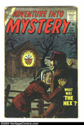 Golden Age (1938-1955):Horror, Adventure Into Mystery Group (Atlas, 1956). #4 is GD-, #7 is GD+.Overstreet 2003 value for group = $40.... (Total: 2 Comic BooksItem)
