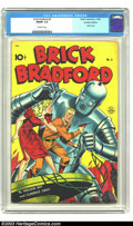 Golden Age (1938-1955):Science Fiction, Brick Bradford 6 (Canadian Edition) (Better Publications, 1948) CGCFN/VF 7.0 Off-white pages. Great robot cover that looks ...