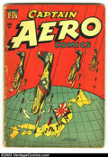 Golden Age (1938-1955):War, Captain Aero Comics #24 (Holyoke Publications, 1945) Condition:GD/VG. Beautiful L.B. Cole cover. Overstreet 2003 GD 2.0 val...