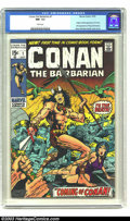 Bronze Age (1970-1979):Miscellaneous, Conan The Barbarian #1 (Marvel, 1970) CGC NM- 9.2 White pages.Barry Windsor-Smith cover and art, origin and first appearanc...