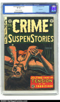 Golden Age (1938-1955):Crime, Crime SuspenStories #19 (EC, 1953) CGC VF 8.0 Off-white to white pages. Feldstein cover, Crandall art. Used in Seduction Of ...