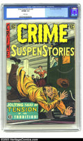 Golden Age (1938-1955):Crime, Crime SuspenStories #26 (EC, 1955) CGC VF/NM 9.0 White pages. Crandall, Kamen and Orlando art. Overstreet 2003 VF/NM 9.0 val...