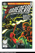 Modern Age (1980-Present):Superhero, Daredevil #168 (Marvel, 1981) Condition: NM. Origin and firstappearance of Elektra by Frank Miller. Did you ever notice tha...