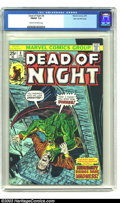 Bronze Age (1970-1979):Horror, Dead of Night #8 (Marvel, 1975) CGC FN/VF 7.0 Cream to off-white pages. Horror reprints. Overstreet 2003 FN 6.0 value = $6.;...