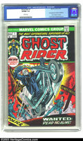 Bronze Age (1970-1979):Horror, Ghost Rider #1 (Marvel, 1973) CGC VF/NM 9.0 White pages. Firstappearance of Son of Satan. Overstreet 2003 VF/NM 9.0 value =...