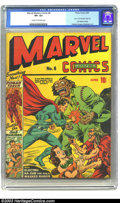 Golden Age (1938-1955):Superhero, Marvel Mystery Comics #8 (Timely, 1940) CGC VF+ 8.5 Cream to off-white pages. Not only is this the first of three installmen...