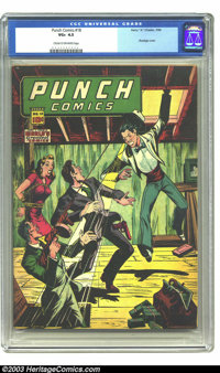 Punch Comics #18 (Chesler, 1946) CGC VG+ 4.5 Cream to off-white pages. This is probably the best looking VG+ copy that y...
