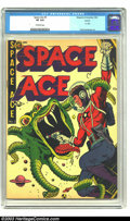 Golden Age (1938-1955):Science Fiction, Space Ace #5 (A-1 #61) Aurora pedigree (Magazine Enterprises, 1952)CGC VF 8.0 Off-white pages. Guardineer art. Wild, colorf...