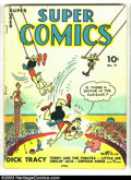 Golden Age (1938-1955):Cartoon Character, Super Comics #11 (Dell, 1939) Condition: VG. Dick Tracy, LittleOrphan Annie, Terry and the Pirates, Smilin' Jack, and more....
