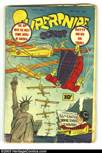 Supersnipe Comics Vol. 2 #12 (Street & Smith, 1944) Condition = FR. Cover wrinkled, big pieces off margins. Over...