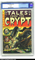 Golden Age (1938-1955):Horror, Tales From the Crypt #45 (EC, 1954) CGC VF 8.0. White pages Davis,Krigstein, and Ingels art. Overstreet 2003 VF 8.0 value =...