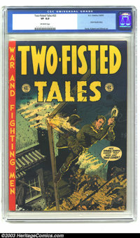 "Two-Fisted Tales #33 (EC, 1953) CGC VF 8.0 Off-white pages. Davis, Kubert and Wood art. Classic ""Atom Bomb"" st..."