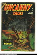 Silver Age (1956-1969):Horror, Uncanny Tales Group (Atlas, 1956) Condition: Average GD+. #27, 30,44 and 49. Each one has a detached centerfold. Overstreet...(Total: 4 Comic Books Item)