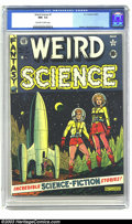 Golden Age (1938-1955):Science Fiction, Weird Science #7 (EC, 1951) CGC NM- 9.2 Off-white to white pages.This issue features an amazingly reflective cover and artw...