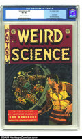 Golden Age (1938-1955):Science Fiction, Weird Science #19 (EC, 1953) CGC VF+ 8.5 Off-white to white pages.Frazetta, Williamson and Wood art; Ray Bradbury biography...