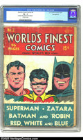 Golden Age (1938-1955):Superhero, World's Finest Comics #2 (DC, 1941) CGC PR 0.5 Incomplete. Off-white pages. Missing last page, which affects story. Here's a...