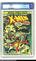 Bronze Age (1970-1979):Superhero, X-Men #94 (Marvel, 1975) CGC VF/NM 9.0 Off-white to white pages.This high-grade copy of the book that fired off the Bronze ...