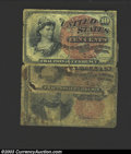 Fractional Currency:Group Lots, Three low grade pieces of Fractional Currency, including two ... (3 notes)