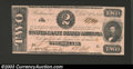Confederate Notes:1862 Issues, 1862 $2 Judah P. Benjamin, T-54, Crisp Uncirculated. ...