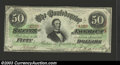 Confederate Notes:1863 Issues, 1863 $50 Black with green overprint; Jefferson Davis, T-57, ...