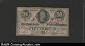 Confederate Notes:1863 Issues, 1863 50 Cents Bust of Jefferson Davis, T-63, Choice About ...