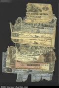 Confederate Notes:Group Lots, Low Grade Assortment.