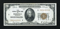Fr. 1870-I $20 1929 Federal Reserve Bank Note. Extremely Fine