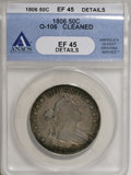 Early Half Dollars, 1806 50C Knobbed 6, Small Stars--Cleaned--ANACS. XF45 Details....