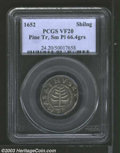 Colonials: , 1652 Pine Tree Shilling, Small Planchet VF20 PCGS. ...