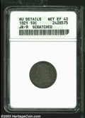 Bust Dimes: , 1821 Large Date XF40 ANACS. ...