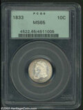 Bust Dimes: , 1833 MS65 PCGS. The current Coin Dealer Newsletter (...