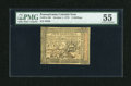 Colonial Notes:Pennsylvania, Pennsylvania October 1, 1773 5s PMG About Uncirculated 55....