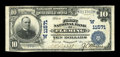 National Bank Notes:Colorado, Fleming, CO - $10 1902 Plain Back Fr. 633 The First NB Ch. #(W)11571. This note is one of only six large enumerated in ...