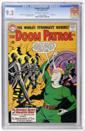 Silver Age (1956-1969):Adventure, Doom Patrol #87 (DC, 1964) CGC NM- 9.2 Off-white to white pages....