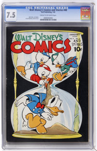 Walt Disney's Comics and Stories #40 (Dell, 1944) CGC VF- 7.5 Cream to off-white pages