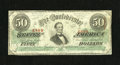 Confederate Notes:1863 Issues, T57 $50 1863. This is a solid note for the grade with its evencirculation. Fine-Very Fine....