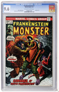 Bronze Age (1970-1979):Horror, Frankenstein #11 (Marvel, 1974) CGC NM+ 9.6 Off-white to whitepages....