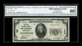 National Bank Notes:Pennsylvania, Bethlehem, PA - $20 1929 Ty. 1 The First NB Ch. # 138. This perfectly margined issue boasts a fairly low serial number f...