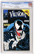 Modern Age (1980-Present):Superhero, Venom: Lethal Protector #1 Black Cover Variant (Marvel, 1993) CGCVF+ 8.5 White pages....