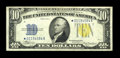 Small Size:World War II Emergency Notes, Fr. 2309* $10 1934A North Africa Silver Certificate. Very Fine.. This is a pleasing, bright North Africa star example exhibi...