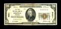Fordyce, AR - $20 1929 Ty. 1 The First NB Ch. # 9501 This Very Fine-Extremely Fine $20 has a minimum of folds for t
