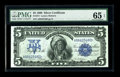 Large Size:Silver Certificates, Fr. 271 $5 1899 Silver Certificate PMG Gem Uncirculated 65 EPQ. Exceptionally broad margins, as well as pronounced original ...